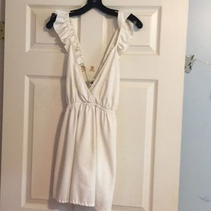 White sabo skirt dress/coverup
